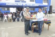 Alcalde Vásquez Llamo entrega indumentaria para brigadas y redes de seguridad ciudadana