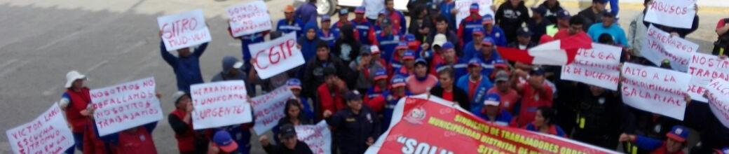 Obreros de Municipio de Víctor Larco desconocieron decisión de autoridad de trabajo