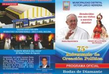 Víctor Larco celebra  bendecido su 75° Aniversario