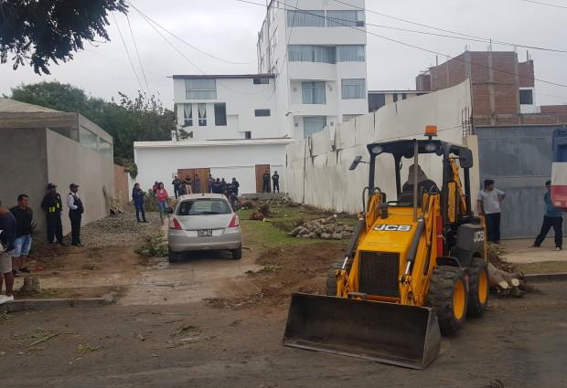 Municipalidad de Víctor Larco recupera terreno en urbanización El Golf