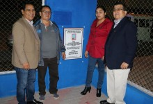 Inauguran mejoramiento de losa deportiva en San Pedro