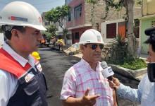 Inician reconstrucción de pistas dañadas por huaicos en Víctor Larco
